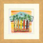 《水彩画》Harumi Kurinoki-S Aloha/longboards(栗乃木 ハルミ アロハ/ロングボード)