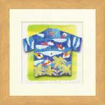 《水彩画》Harumi Kurinoki-S Aloha/surfing(栗乃木 ハルミ アロハ/サーフィン)