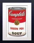 《アートフレーム》Warhol アンディ・ウォーホル キャンベルのスープ(グリーンピース)