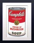 《アートフレーム》Warhol アンディ・ウォーホル キャンベルのスープ( クリームマッシュルーム)