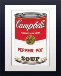 《アートフレーム》Warhol アンディ・ウォーホル キャンベルのスープ(ペーパーポット)