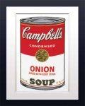 《アートフレーム》Warhol アンディ・ウォーホル キャンベルのスープ(オニオン)