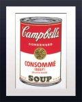 《アートフレーム》Warhol アンディ・ウォーホル キャンベルのスープ(コンソメ)