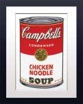 《アートフレーム》Warhol アンディ・ウォーホル キャンベルのスープ(チキンヌードル)