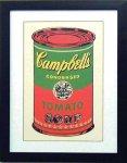 《アートフレーム》Warhol アンディ・ウォーホル キャンベルのスープ(グリーン&レッド)