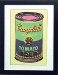《アートフレーム》Warhol アンディ・ウォーホル キャンベルのスープ(グリーン&パープル)