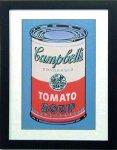 《アートフレーム》Warhol アンディ・ウォーホル キャンベルのスープ(ピンク&レッド)