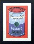 《アートフレーム》Warhol アンディ・ウォーホル キャンベルのスープ(ブルー&パープル)