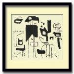 《絵画・抽象画》Willi, Baumeister Afrikanische Spieleアフリカのゲーム