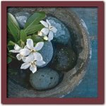 《アートフレーム》Catherine BEYLER Basin and flowers(ベイスン アンド フラワーズ/鉢と花)