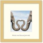 《アートフレーム》Dianna SANTO Elephants in love(エレファンツ イン ラブ/ゾウのハート)(ゆうパケット)