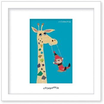 《アートフレーム》Colobockle コロボックル キリンのブランコ(ゆうパケット)