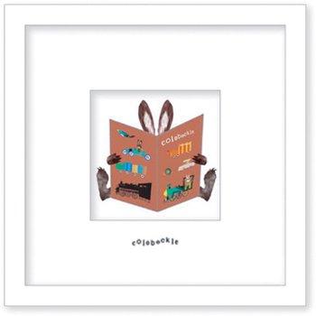 《アートフレーム》Colobockle コロボックル 本とウサギ(車)(ゆうパケット)