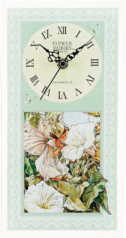 《時計》フラワーフェアリーズ クロック ホワイトバインドウィードフェアリー
