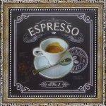 《ミニゲル アートフレーム》チャドバレット「コーヒーハウス エスプレッソ」(ゆうパケット)