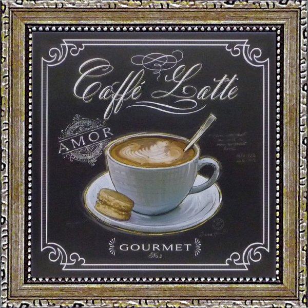《ミニゲル アートフレーム》チャドバレット「コーヒーハウス カフェラテ」(ゆうパケット)