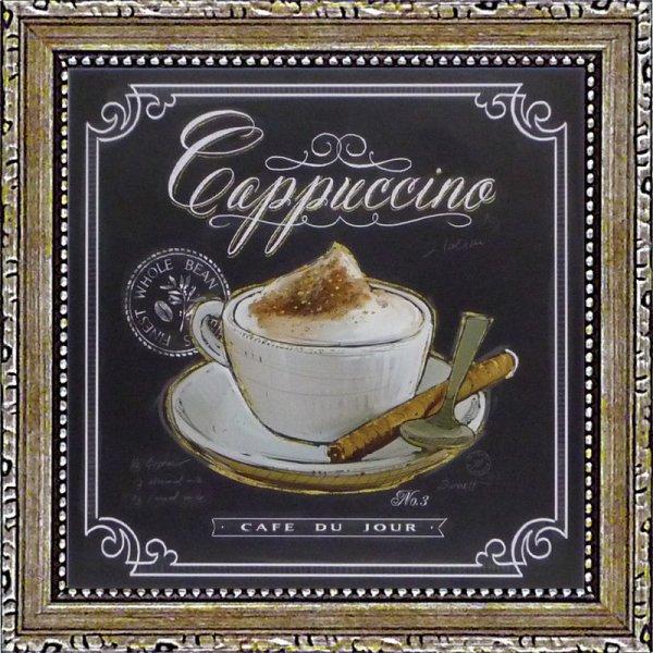 《ミニゲル アートフレーム》チャドバレット「コーヒーハウス カプチーノ」(ゆうパケット)