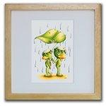 《色鉛筆画・版画》幸福の雨 SHOji(ゆうパケット)