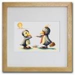 《色鉛筆画・版画》サラリーマンペンギン SHOji(ゆうパケット)