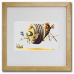 《色鉛筆画・版画》熊猫魚 SHOji(ゆうパケット)