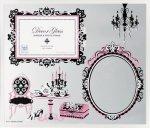 《フォトフレーム&ミラー》デコール ガラス フォトフレーム&ミラー 1ウィンドー&ミラー (ピンク)