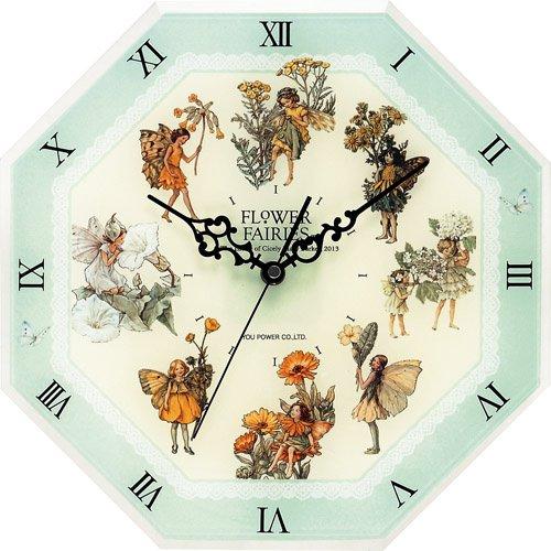 《時計》フラワー フェアリーズ 8アングル クロック グリーン フェアリーズ