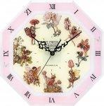 《時計》フラワー フェアリーズ 8アングル クロック ピンク フェアリーズ