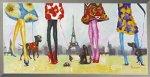 《手描き油絵》オイル ペイント アート パリジェンヌ