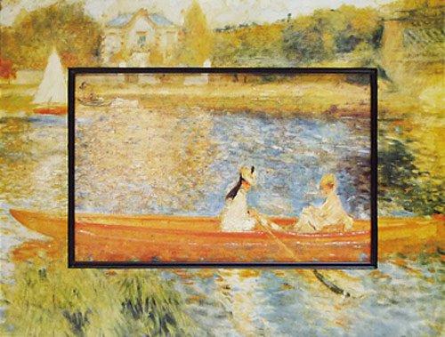 《名画》ビッグアート 名画ハイグロスシリーズ ルノワール 「アニエールのセーヌ川」