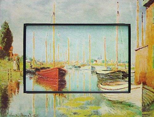 《名画》ビッグアート 名画ハイグロスシリーズ モネ 「アルジャントライユのヨット」