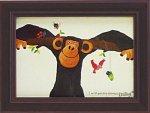 《アートフレーム》武内 祐人 チンパンジーと鳥と虫たち(ゆうパケット)