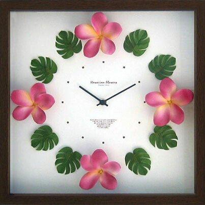 《時計》Hawaiian clock Plumeria Pink(ハワイアン クロック プルメリア ピンク)