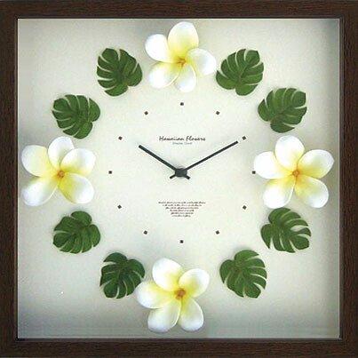 《時計》Hawaiian clock Plumeria Yellow(ハワイアン クロック プルメリア イエロー)