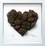 《アートフレーム》Heart Series Chocolat Heart(ハートシリーズ チョコレート ハート)