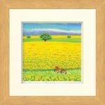 《水彩画・版画》Harumi Kurinoki-S 春の丘