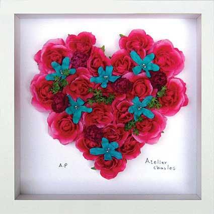 《フラワーフレーム》Heart Series Red Heart(ハート シリーズ レッド ハート)
