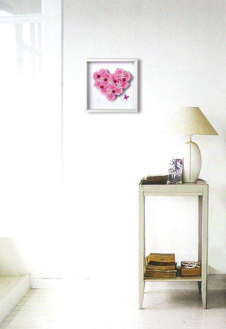 《フラワーフレーム》Heart Series Pink Heart 2(ハート シリーズ ピンク ハート)