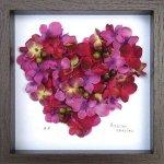 《フラワーフレーム》Heart Series Pink Heart 3(ハート シリーズ ピンク ハート)