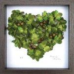 《フラワーフレーム》Heart Series Green Heart(ハート シリーズ グリーン ハート)