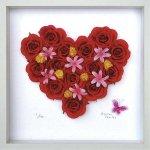 《フラワーフレーム》Heart Series Red Heart 300(ハート シリーズ レッド ハート)