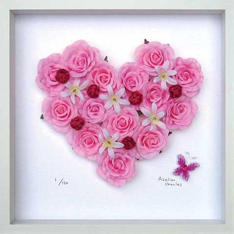 《フラワーフレーム》Heart Series Pink Heart 300(ハート シリーズ ピンク ハート)