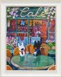 《アートフレーム》リサとガスパール アートフレーム Lサイズ 春のカフェ