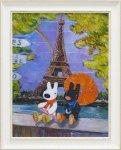 《アートフレーム》リサとガスパール アートフレーム Lサイズ 虹のエッフェル塔
