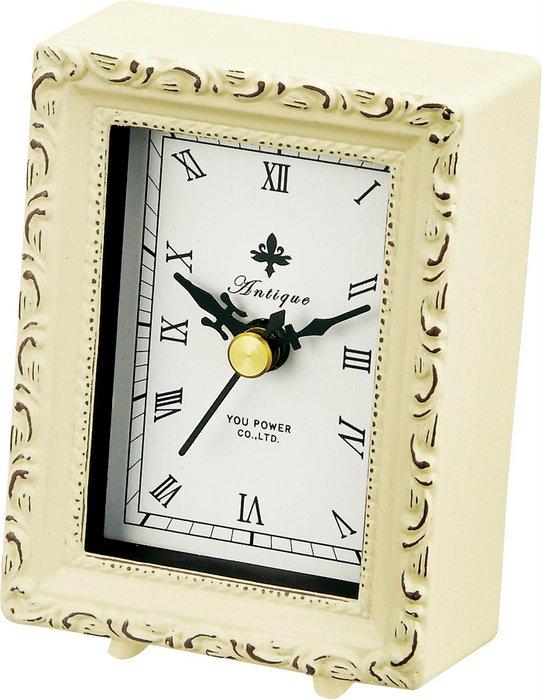 《時計》アンティーク スタイル クロック スクエア(アンティークバニラ)