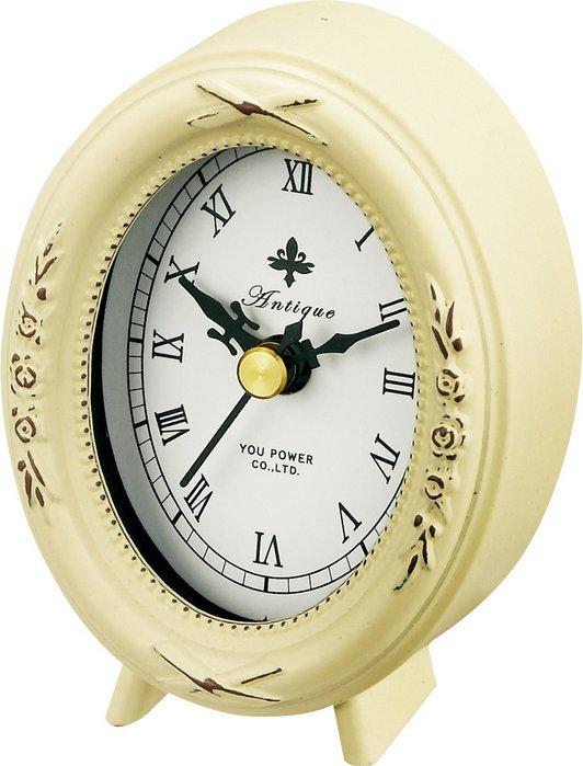 《時計》アンティーク スタイル クロック オーバル(アンティークバニラ)