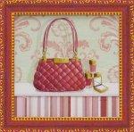 《ミニゲル アートフレーム》 キャロライン フィスク 「コーラル ピンク パース1」(ゆうパケット)