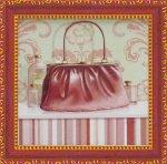《ミニゲル アートフレーム》 キャロライン フィスク 「コーラル ピンク パース2」(ゆうパケット)
