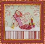 《ミニゲル アートフレーム》 キャロライン フィスク 「コーラル ピンク シュー1」(ゆうパケット)