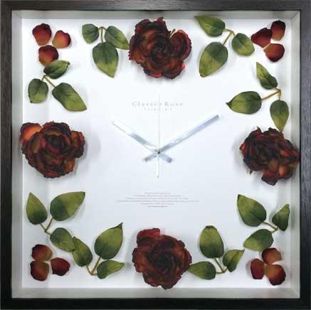 《時計》ローズ クロック クラシック レッド
