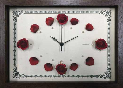 《時計》ローズ クロック ピンク